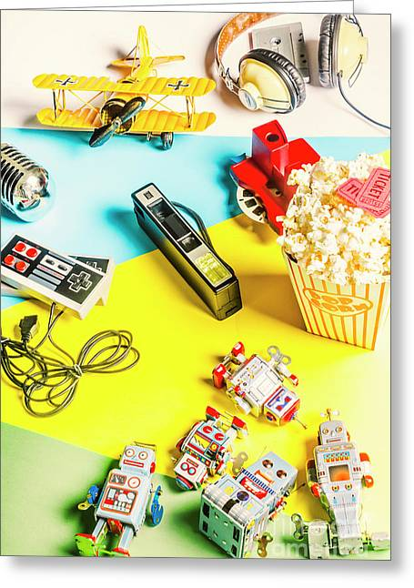 Multicolour Memorabilia Greeting Card