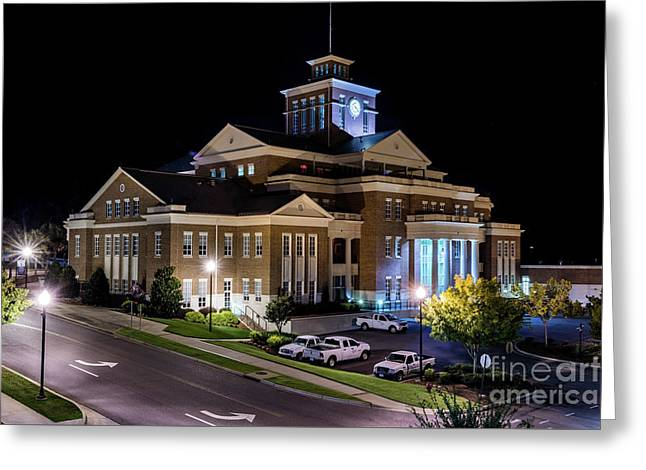 Municipal Center At Night - North Augusta Sc Greeting Card