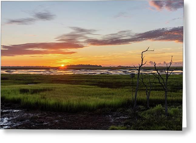 Murrells Inlet Sunrise - August 4 2019 Greeting Card
