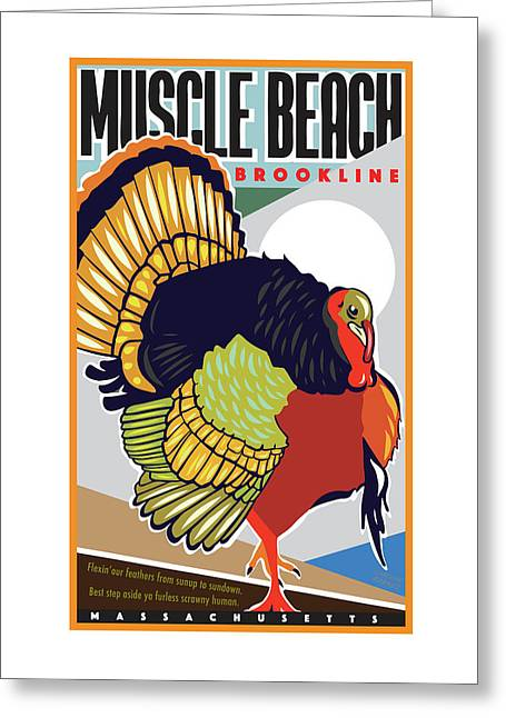 Muscle Beach Greeting Card