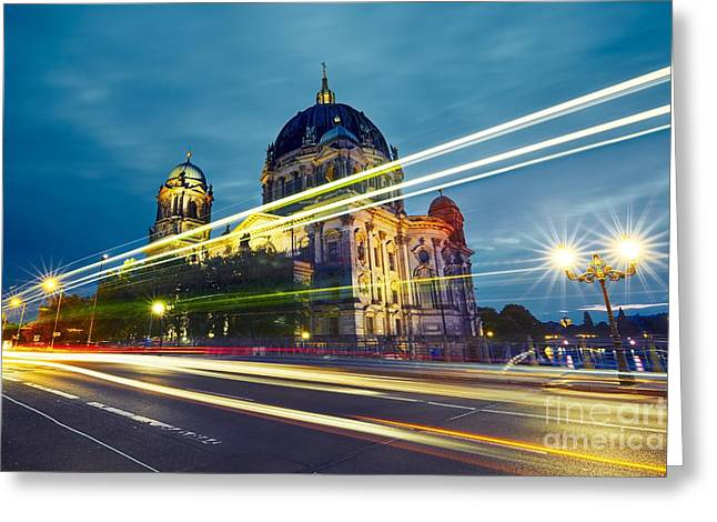 Museum Island With Berlin Cathedral - Greeting Card
