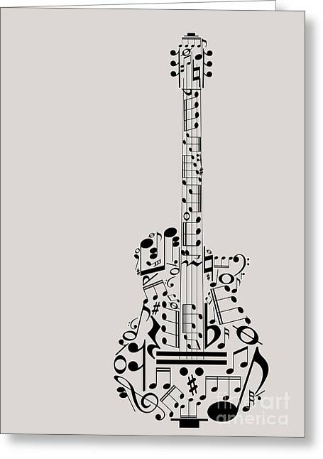 Music Guitar Concept Made With Musical Greeting Card