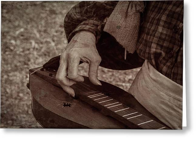Greeting Card featuring the photograph Musician 1349 by Guy Whiteley