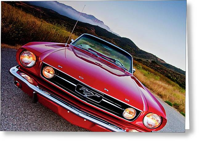 Mustang Convertible Greeting Card