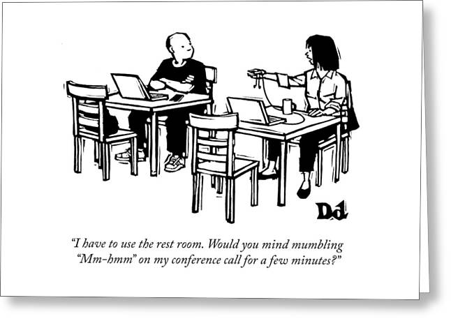 My Conference Call Greeting Card