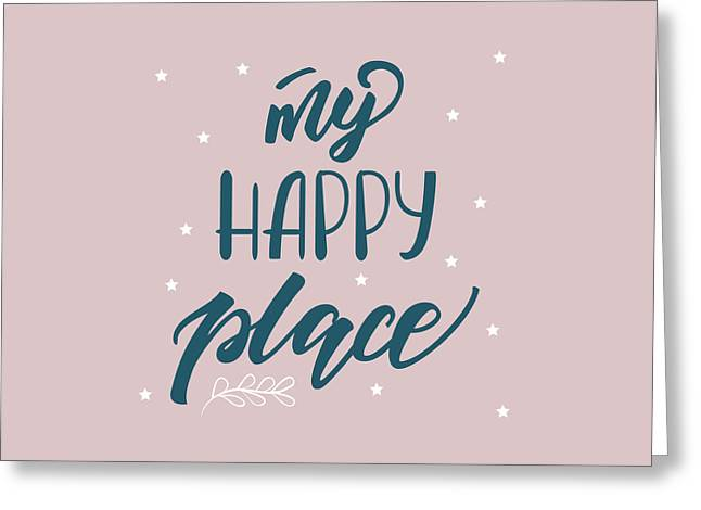 My Happy Place - Baby Room Nursery Art Poster Print Greeting Card