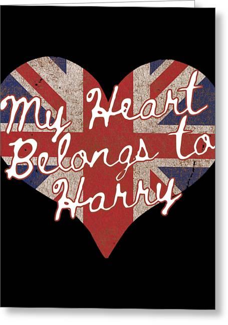 My Heart Belongs To Prince Harry Greeting Card