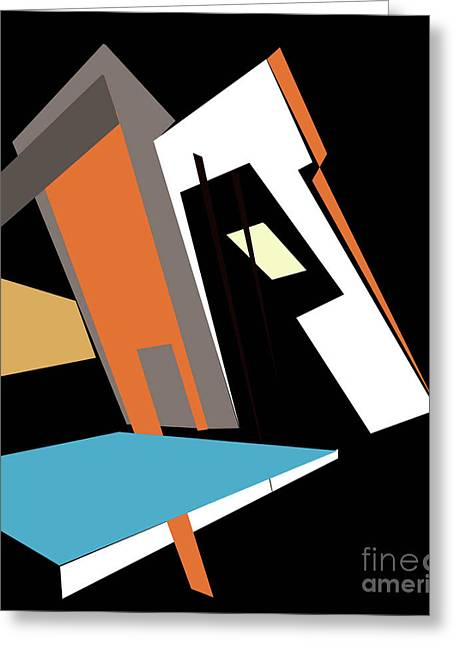My World In Abstraction Greeting Card