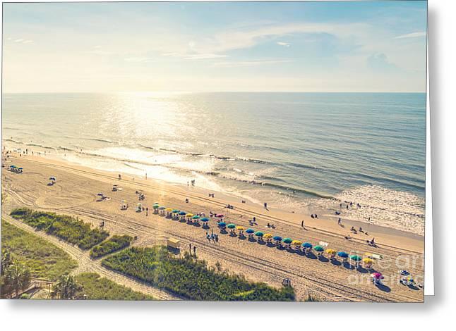 Myrtle Beach South Carolina Aerial View Greeting Card