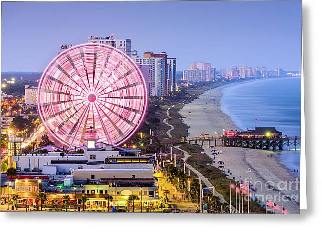 Myrtle Beach, South Carolina, Usa City Greeting Card