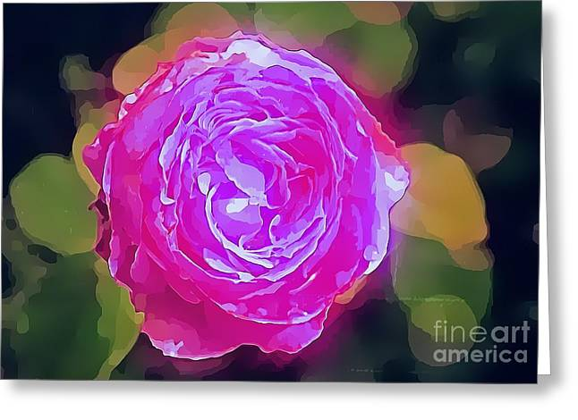 Mystic Rose Greeting Card