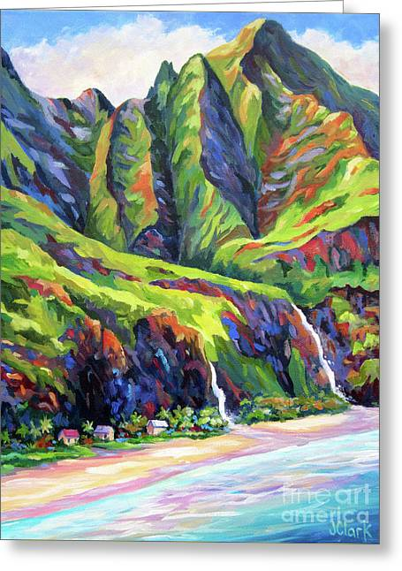 Napali Coast Evening Colours Greeting Card