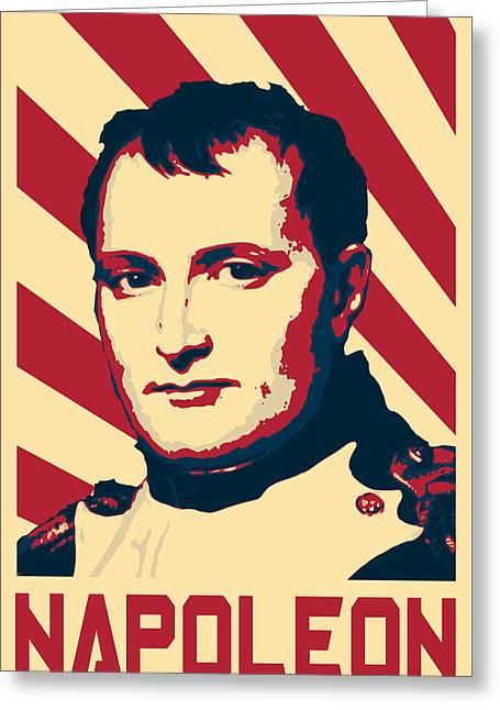 Napoleon Bonaparte Retro Propaganda Greeting Card
