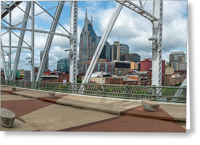 Nashville Cityscape From The Bridge Greeting Card