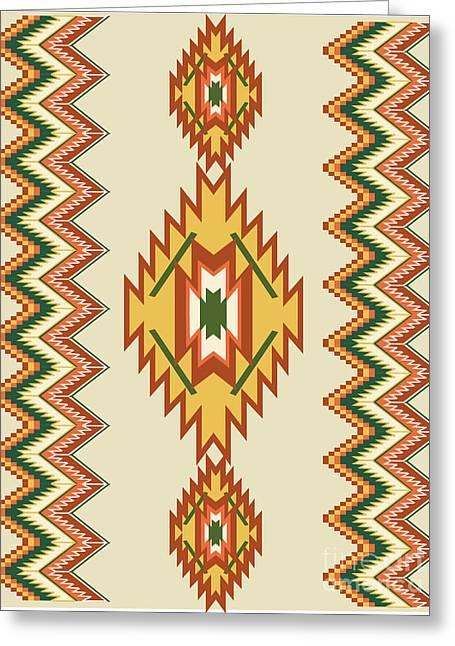 Native American Rug Greeting Card
