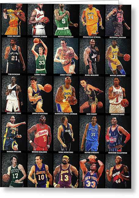 Nba Legends Greeting Card