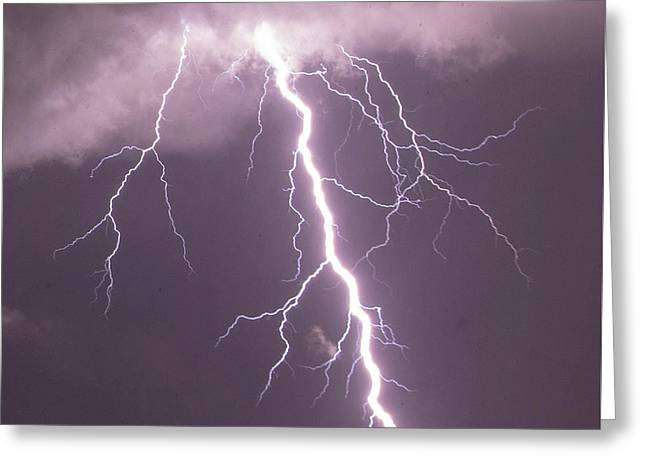 Greeting Card featuring the photograph Nebraska Arcus And Lightning 046 by NebraskaSC
