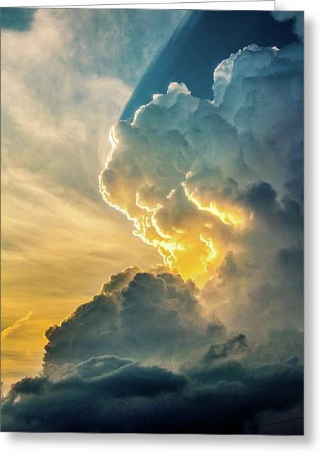 Nebraska Sunset Thunderheads 075 Greeting Card