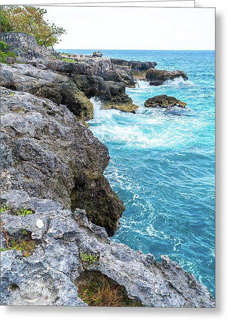 Negril Jamaica Cliffs Greeting Card