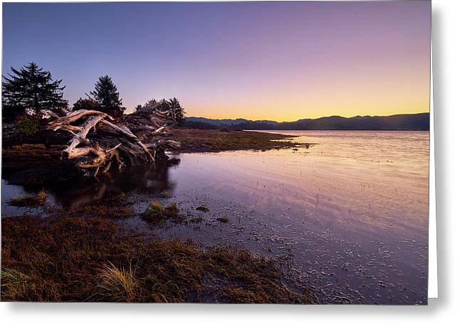 Nehalem Bay Sunrise Greeting Card