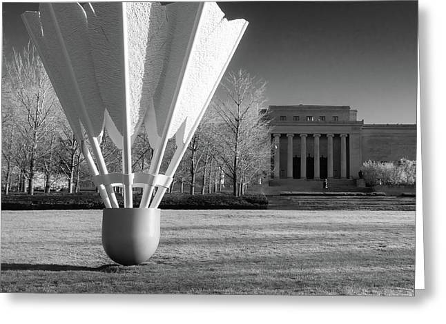 Nelson Atkins Art Museum In Infrared - Kansas City - Square Greeting Card