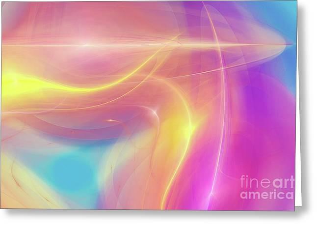 Neon Light  Cosmic Rays Greeting Card