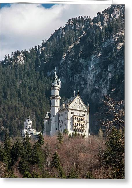 Neuschwanstein Castle On The Hill 2 Greeting Card