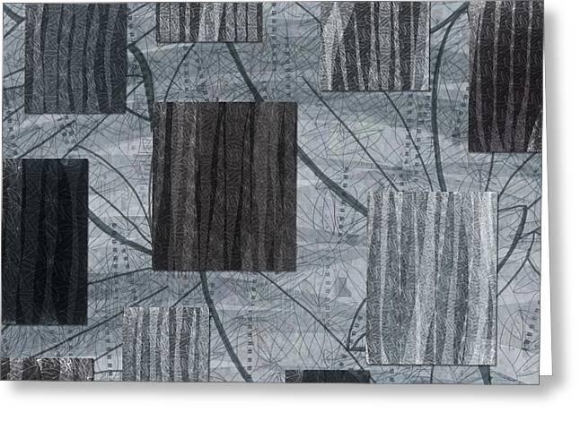 Neutral Toned Leaf Square Print Greeting Card