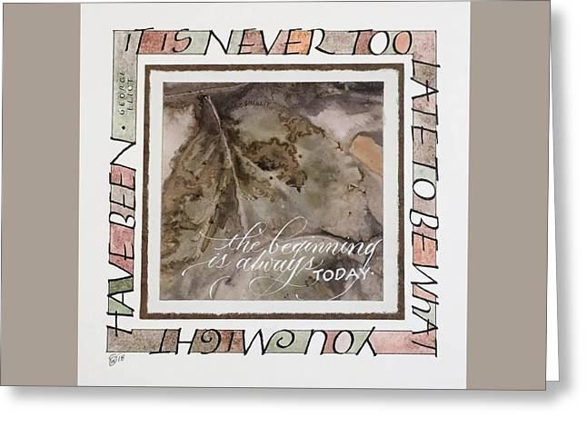 Never Too Late Greeting Card