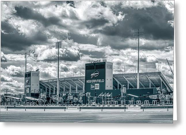 Greeting Card featuring the photograph New Era Stadium by Guy Whiteley