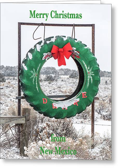 Greeting Card featuring the photograph New Mexico Christmas Card by Britt Runyon