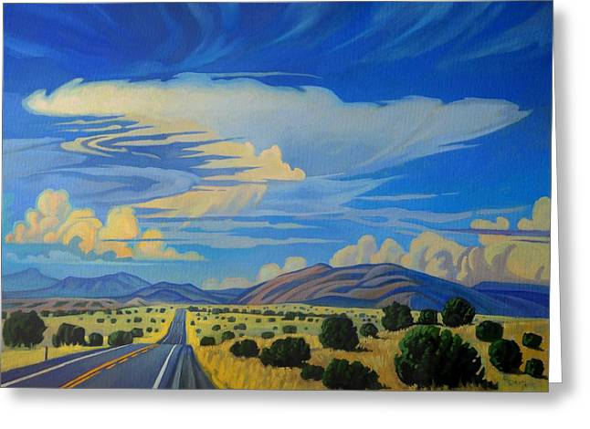 New Mexico Cloud Patterns Greeting Card