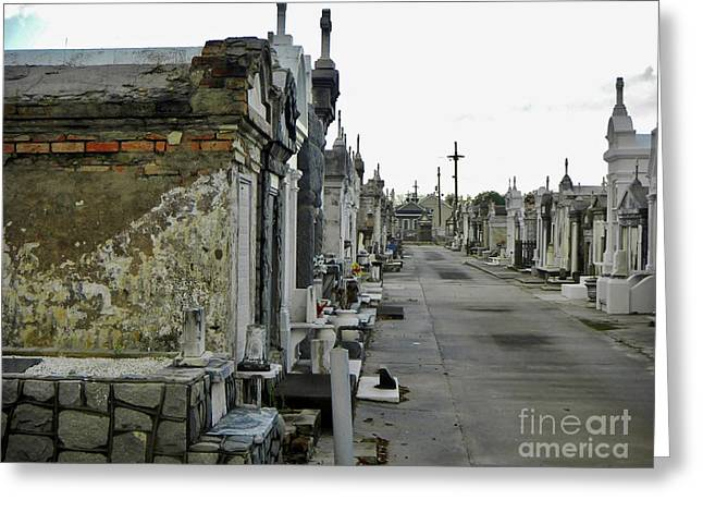 Greeting Card featuring the photograph New Orleans Cemetery by Rosanne Licciardi