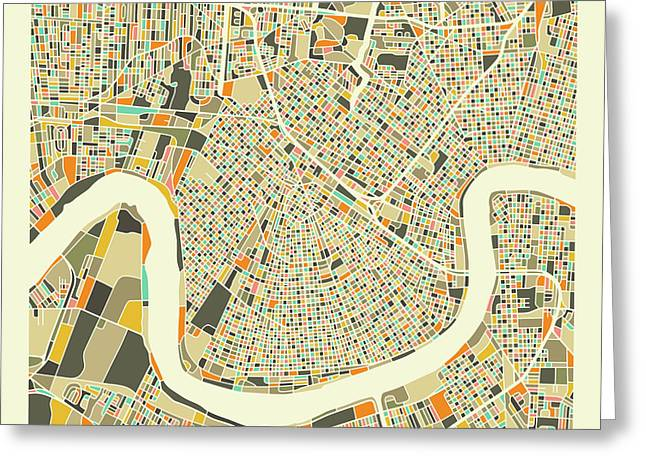 New Orleans Map 1 Greeting Card
