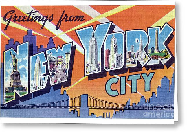 New York City Greetings - Version 2 Greeting Card