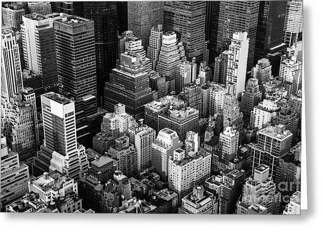 New York City Manhattan Aerial View Greeting Card