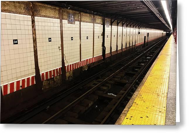 New York City Subway Line Greeting Card