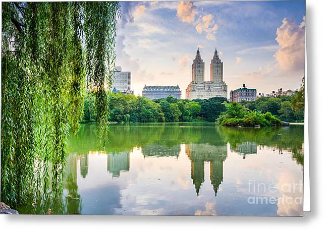 New York City, Usa At The Central Park Greeting Card by Sean Pavone