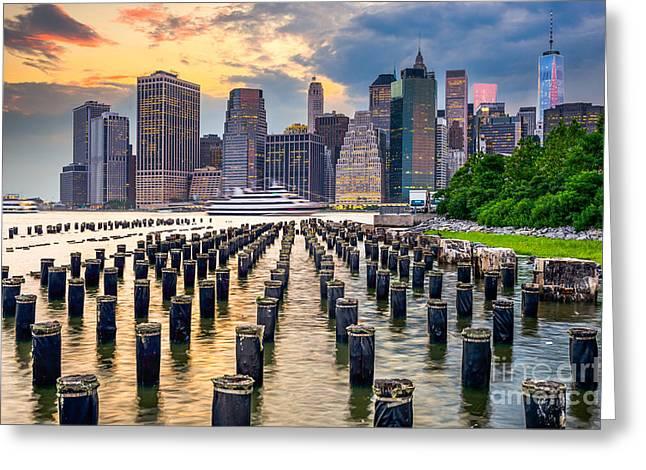 New York City, Usa City Skyline On The Greeting Card