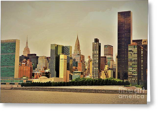 New York East River Greeting Card