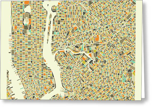 New York Map 1 Greeting Card