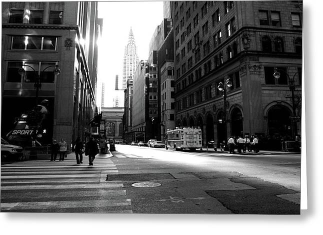 Greeting Card featuring the photograph New York, Street by Edward Lee