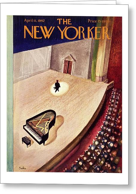 New Yorker April 11th 1942 Greeting Card