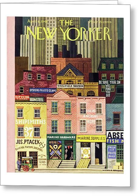 New Yorker April 6 1946 Greeting Card