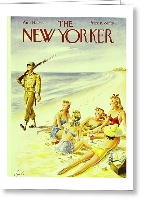 New Yorker August 14th 1943 Greeting Card