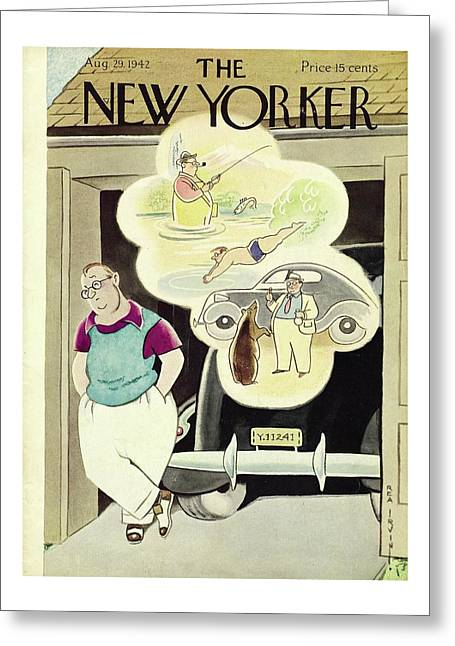 New Yorker August 29th 1942 Greeting Card