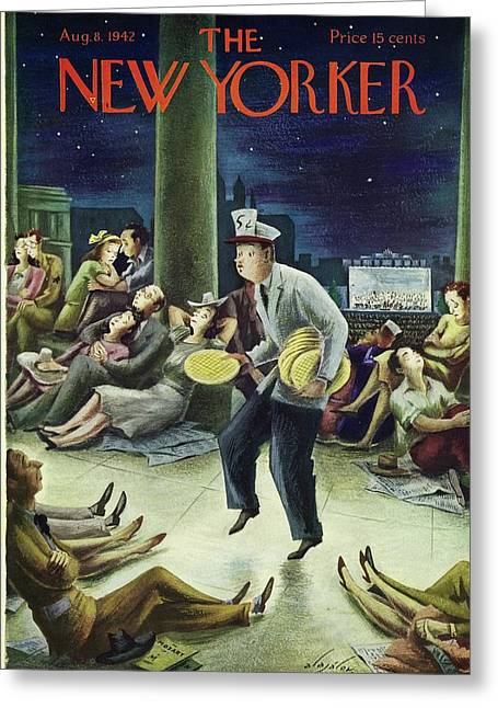 New Yorker August 8th 1942 Greeting Card