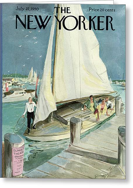 New Yorker Cover - July 22, 1950 Greeting Card