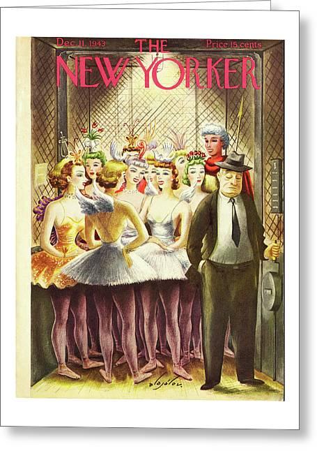 New Yorker December 11 1943 Greeting Card