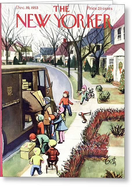 New Yorker December 19, 1953 Greeting Card